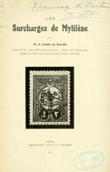 Cover of Les surcharges de Mytilene