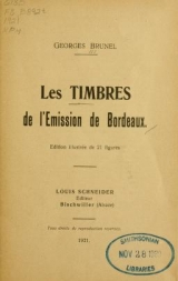 Cover of Les timbres de l'emission de Bordeaux