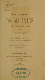 Cover of Les timbres de Maurice depuis leur origine jusqu'a nos jours