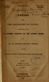 Cover of Letter from the Secretary of State