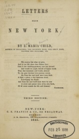 Cover of Letters from New York