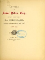 Cover of Letters of Isaac Bobin, esq