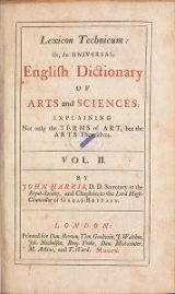 Cover of Lexicon technicum, or, An universal English dictionary of arts and sciences v. 2
