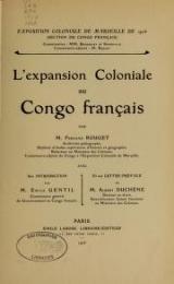 Cover of L'e̕xpansion coloniale au Congo français