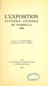 Cover of L'Exposition nationale coloniale de Marseille 1922