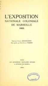 Cover of L'Exposition nationale coloniale de Marseille 1922