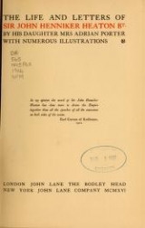 Cover of The life and letters of Sir John Henniker Heaton bt