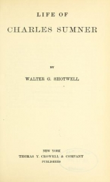 Cover of Life of Charles Sumner
