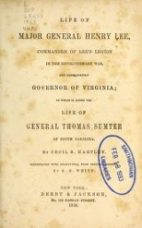 Cover of Life of Major General Henry Lee
