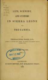 Cover of Life, scenery and customs in Sierra Leone and the Gambia