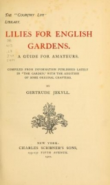 Cover of Lilies for English gardens