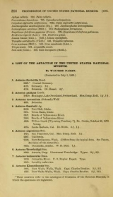 Cover of List of the Astacidae in the United States National Museum