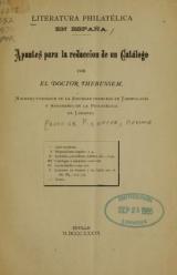 Cover of Literatura philatélica en España