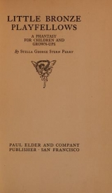 Cover of Little bronze playfellows