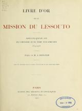 Cover of Livre d'or de la mission du Lessouto