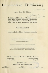 Cover of Locomotive dictionary