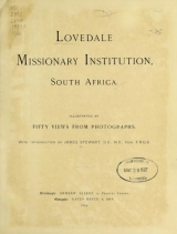 Cover of Lovedale missionary institution, South Africa