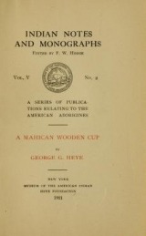 Cover of A Mahican wooden cup
