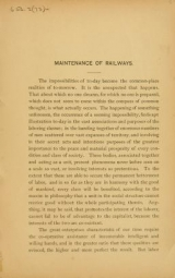 Cover of Maintenance of railways