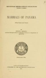 Cover of Mammals of Panama