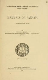 Cover of Mammals of Panama