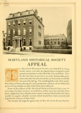 Cover of Maryland Historical Society, 1844-1921