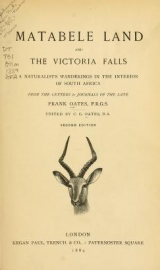 Cover of Matabele land and the Victoria Falls