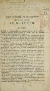 Cover of [Matthew, Mark, Luke in the Seneca language