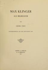 Cover of Max Klinger als Bildhauer