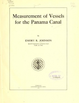 Cover of Measurement of vessels for the Panama canal