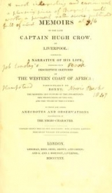 Cover of Memoirs of the late Captain Hugh Crow of Liverpool
