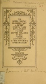 Cover of The Metropolitan museum of art
