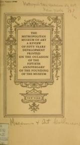 Cover of The Metropolitan museum of art