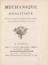Cover of Méchanique analitique