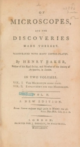 Cover of Of microscopes and the discoveries made thereby