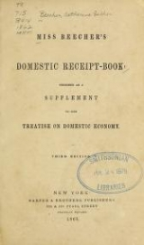 Cover of Miss Beecher's domestic receipt book