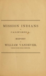 Cover of Mission Indians of California