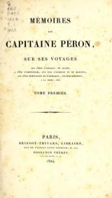 Cover of Mémoires du Capitaine Péron