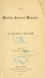 """Cover of """"Monthly nautical magazine, and quarterly review"""""""