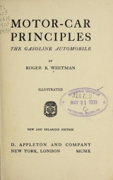Cover of Motor-car principles