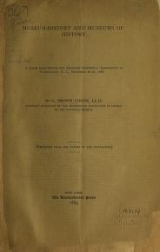 Cover of Museum-history and museums of history