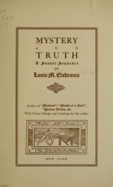 Cover of Mystery and truth