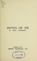Cover of Myths of Ífe
