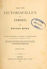 Cover of Nach den Victoriafällen des Zambesi