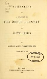 Cover of Narrative of a journey to the Zoolu country
