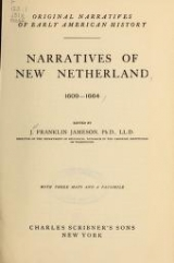 """Cover of """"Narratives of New Netherland, 1609-1664"""""""