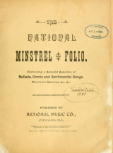 Cover of The National minstrel folio