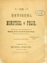 Cover of The National minstrel folio