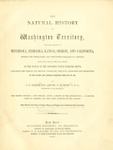 Cover of The natural history of Washington territory