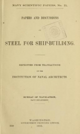 Cover of Navy scientific papers